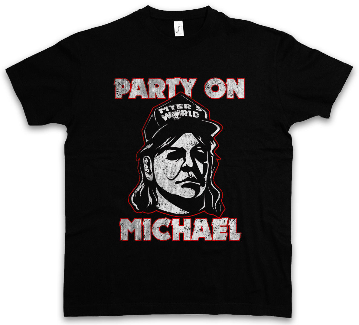 PARTY ON MICHAEL T-SHIRT Halloween Horror H20 Myers Waynes Waynes Fun World