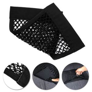 0 cm x 25 cm Car Seat Back Storage Auto Mesh Net Bag Magic Stick Pocket Sticker Trunk