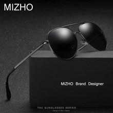 Фотография MIZHO Hot HD Visual Brand Elastic Support Sunglasses Men Polarized Aviador Alloy Vacuum Plating Strong UV Glasses Women Polaroid