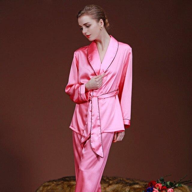 1cf5a8c5a1 Para mujer Pijama De Raso De Seda Conjunto Loungewear Pijama pijama  Conjunto ropa de Dormir Kimono