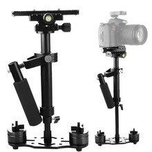 Fotoğraf S40 + 0.4M 40CM alüminyum alaşım el Steadycam sabitleyici Steadicam Canon Nikon fotoğrafçılık DSLR Video kamera