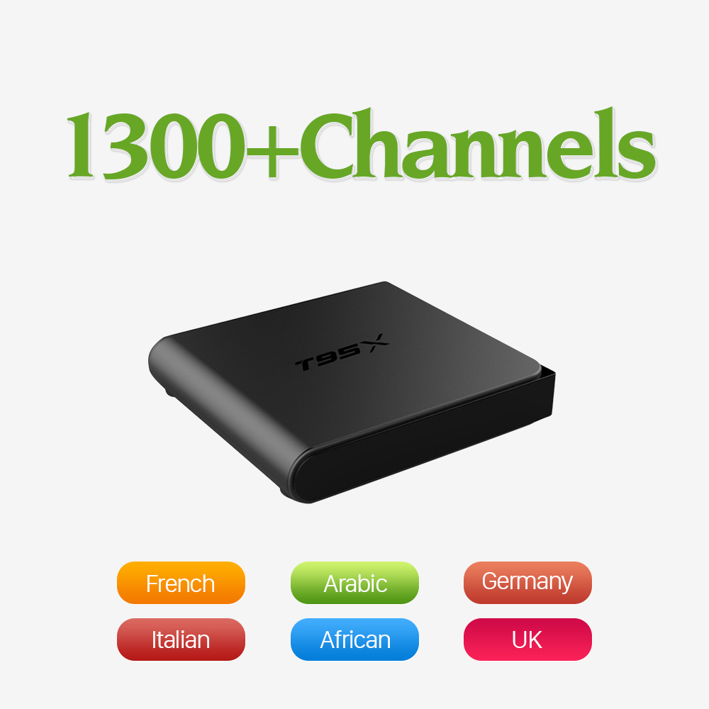 TV Box Android 6.0 Smart Media Player Amlogic S905X with QHDTV IPTV Subscription Europe Arabic French Italy UK IPTV Set Top Box цена 2016