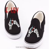 E LOV Hip Hop Style Canvas Shoes Men Footwear Printed Rock Band 21 Pilots Man Boys