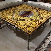 Decorative Gold Color Table Cloth Velvet Tablecloth Dining Table Cover Kitchen Home Decor AU TC