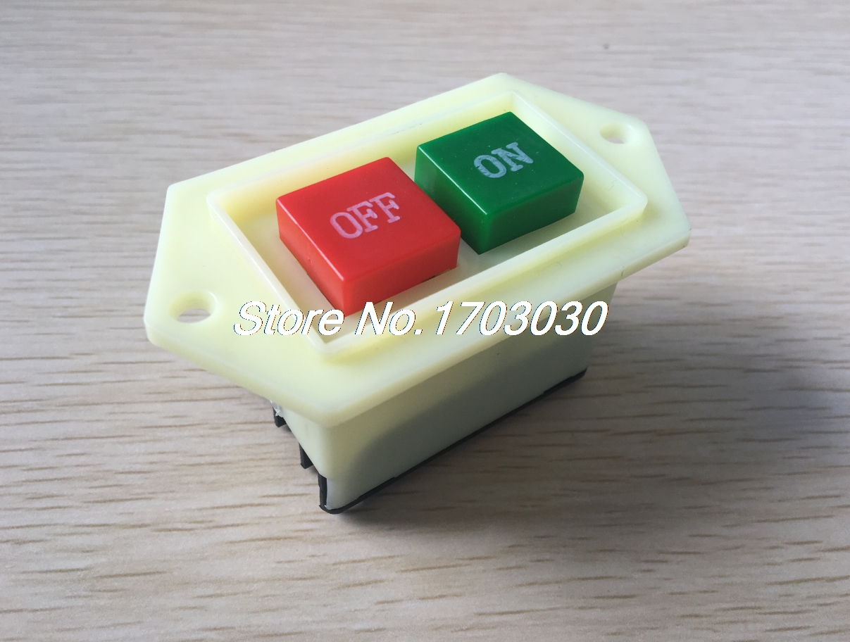 AC 220/380V 5A ON/OFF Start Stop Self-Locking Push Button Switch