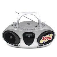 Высокая мощность воспроизведение CD обучающая игрушка FM AM радио рекордер обучения USB DVD магнитофон Динамик VCD/MP3/CD R/CD RW Воспроизведения Диска