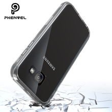 Phenvel bumper case for samsung galaxy A5 2017 TPU + PC Transparent clear cover A520F impact protection