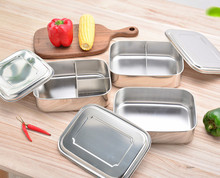 Stainless Steel Square Bento Lunch Box Food Container Storage Dinnerware Portable Lunchbox