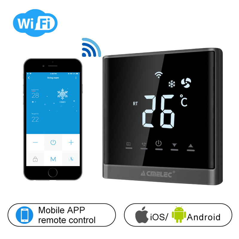 Temperature Regulator Central Air Conditioner WIFI Thermostat APP Control Temperature  AE-668-K Touch Screen LED
