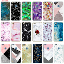 Lavaza Granite Scrub Marble Stone image Painted Coque Hard Phone Case for Huawei P8 P9 Lite 2015 2016 P10 P20 P smart Cover