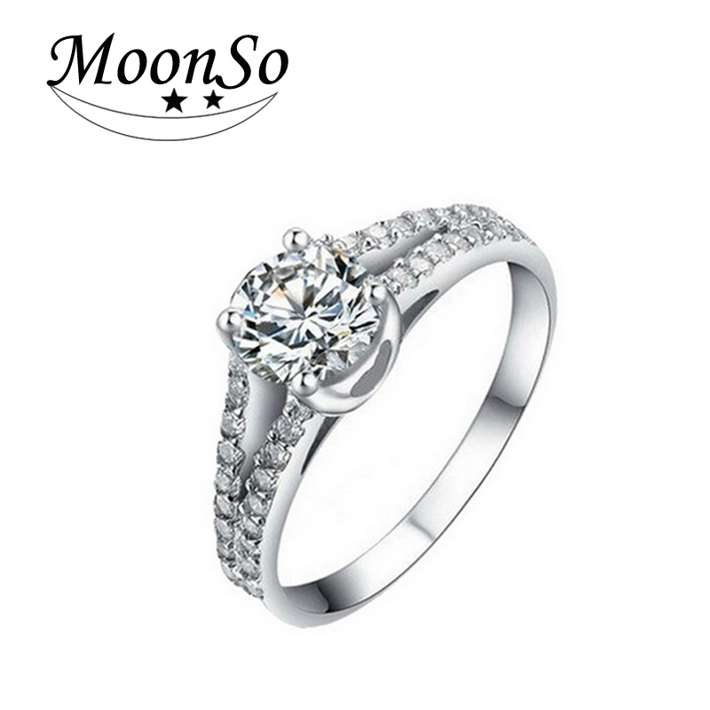luxury wedding rings moonso luxury 925 sterling silver engagement 5628