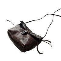 2017 Women Messenger Bags Genuine Leather Mini Black Female Shoulder Bag