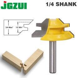 1 Pc 45 stopni element mocujący do ukośnicy do frezowania 8 Cal Shank do obróbki drewna czop frez narzędzia do wiercenia frezarka do drewna z węglika spiekanego