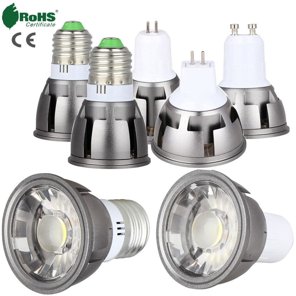 Ultra Bright LED COB Spotlight 6W 9W 12W E26 E27 MR16 GU10 GU5.3 Light Bulb 12V AC 220V 110V Spot Light Lamp Warm Cool White