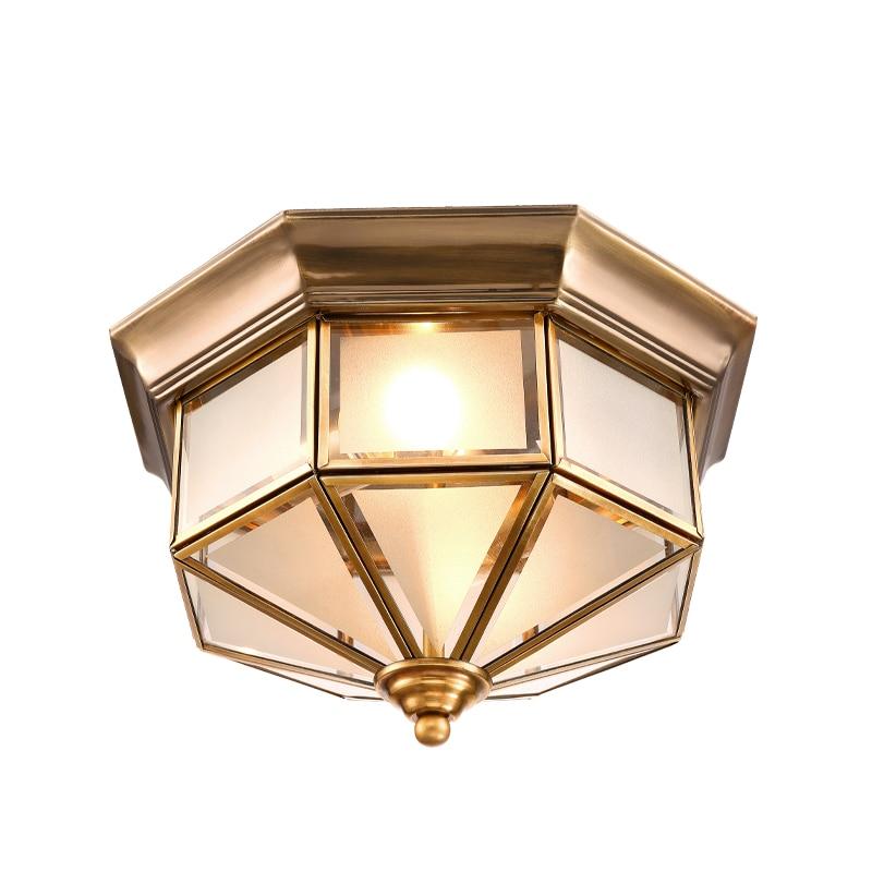 Retro lubų šviestuvai Svetainės šviestuvai Amerikietiški Retro miegamojo šviestuvai Europiniai variniai lubiniai šviestuvai