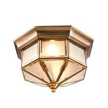Retro Ceiling Lamps Living Room lights American Retro Bedroom Lamps European Copper Ceiling lights