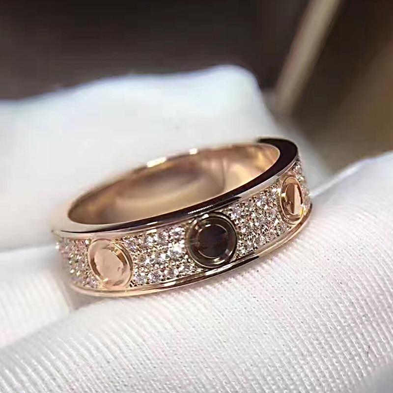 Best buy ) }}Titanium Steel LOVE eternal ring Brand Fashion Jewelry For Women Unisex carter Wedding
