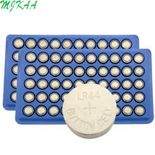 Hot Sale 100pcs LR44 357A A76 303 AG13 SR44SW SP76 L1154 RW82 RW42 Alkaline Button Cell Battery Long Lasting(China)