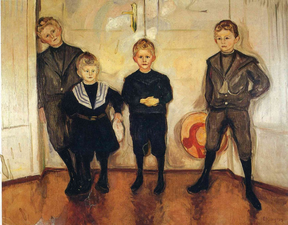 707ac96f292cf Oil Painting Reproduction on Linen Canvas,the-four-sons-of-dr-linde-1903 by  Edvard Munch,100% handmade,abstract oil painting