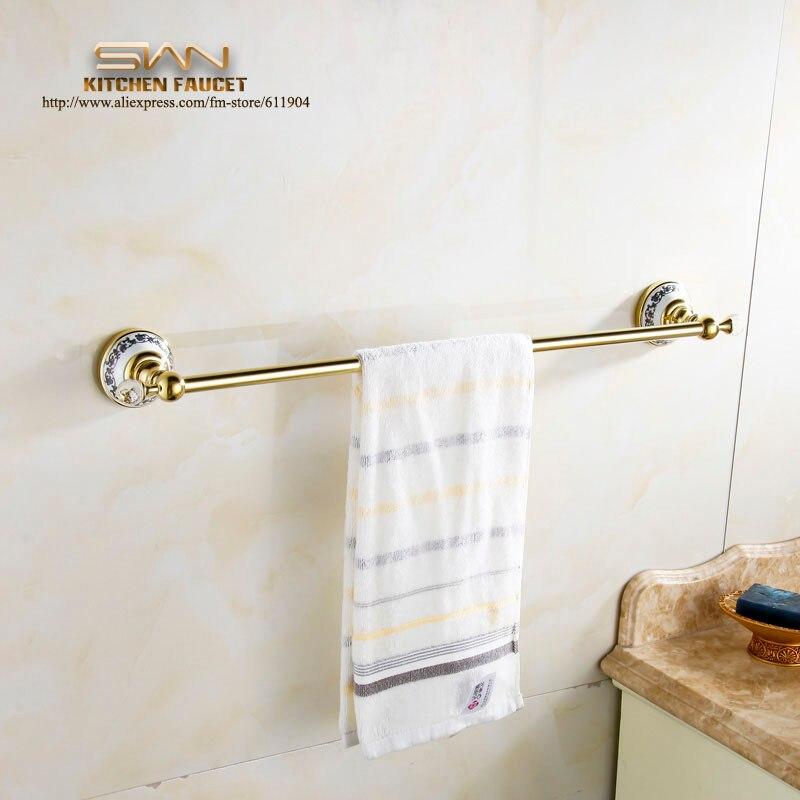 Gold Color Bathroom Towel Bar Rack Single Holder Bathroom Accessaries Hardware 60cm 3E71911