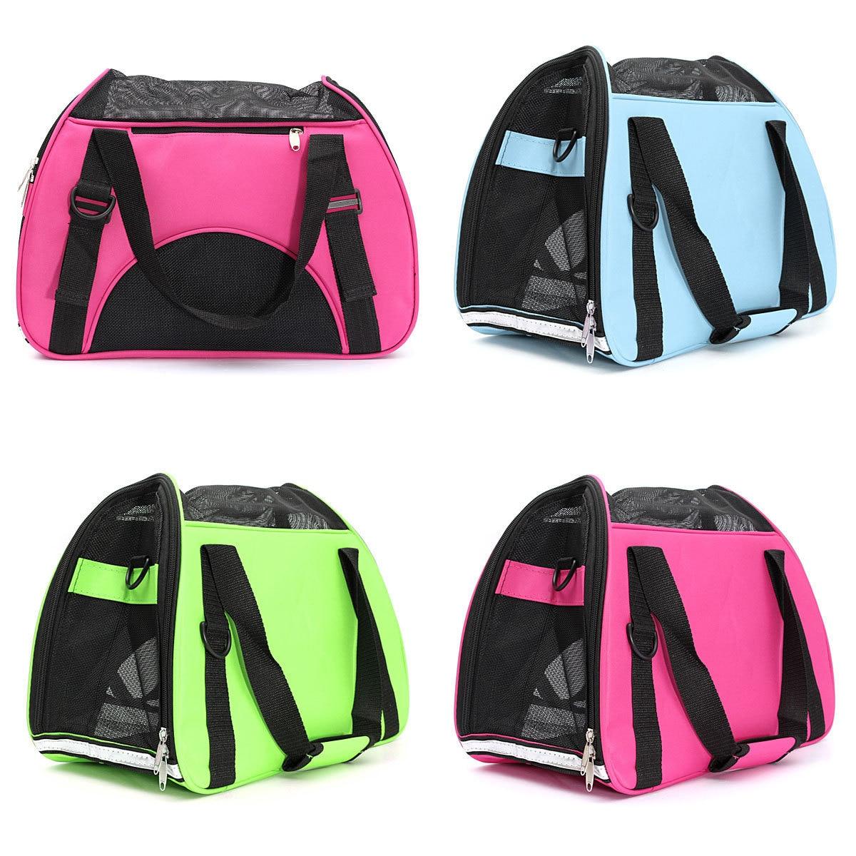 Nylon Rose Zelená Modrá Psí taška Větruvzdorné pevné smyčky Chihuahua Bag Cat Carrier Pes Bag Carring tašky