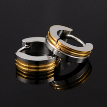 Gold&Silver Plated Punk Modern Jewelry New Trendy Earrings For Men Women Best Gift Classic Unisex Jewelry Wholesale HE1049A