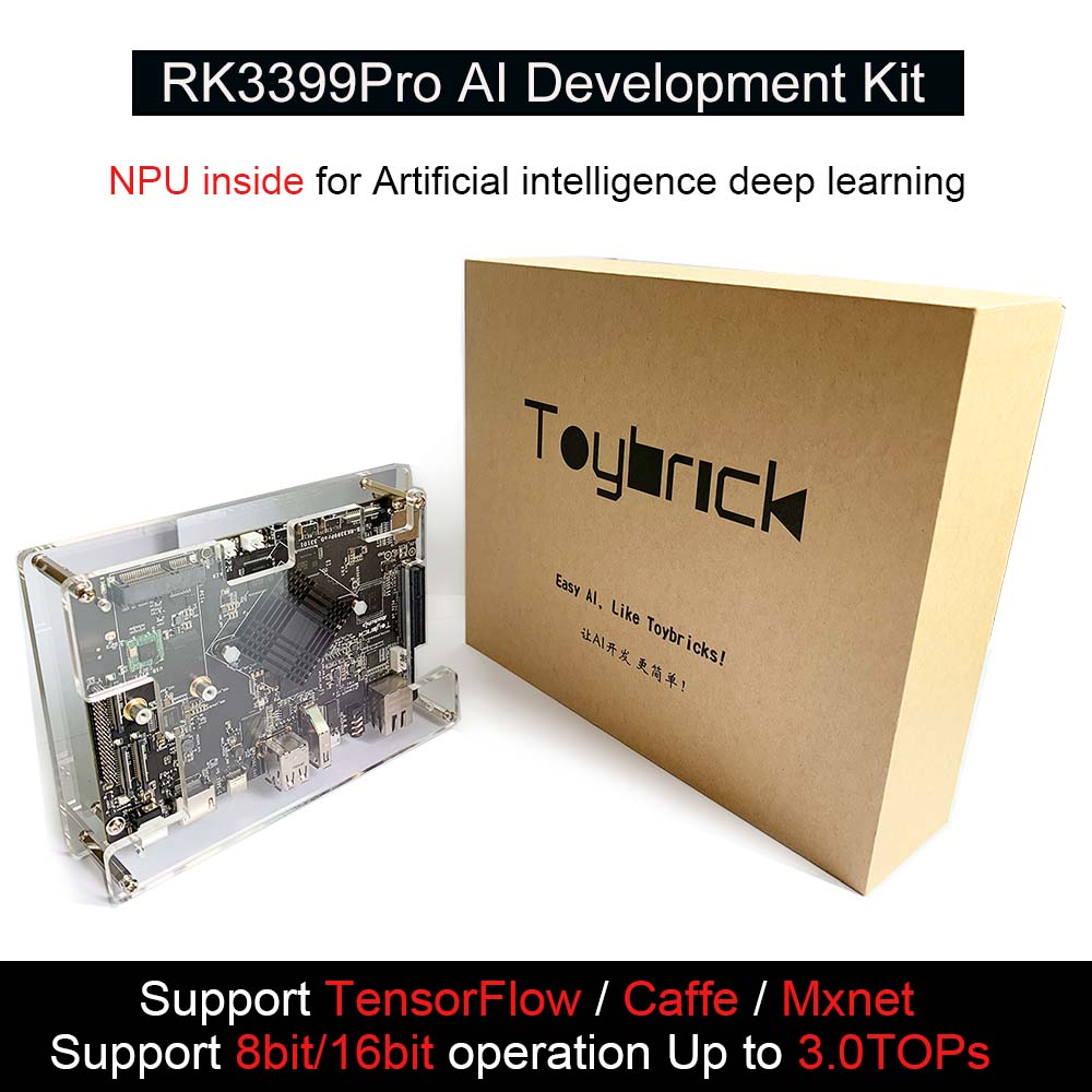 RK3399Pro AI Development Kit Single Board Computer For Artiticial Intelligence Deep Learning Accelerate TensorFlow Android/linux
