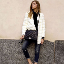 Зимние женские шубы из искусственного меха, повседневная куртка с длинными рукавами, пальто, модный легкий мех, теплое пальто