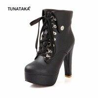 2013 New Hot Sale Fashion Women Ankle Boots High Heels Lace Up Snow Boots Platform Pumps