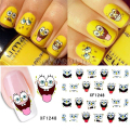 Hot Sale Water Transfer Nail Art Stickers Nail Art Water Decals Cute Cartoon SpongeBob DIY Design XF1248