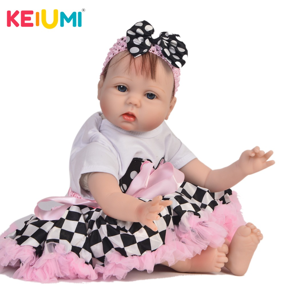 KEIUMI DIY Toys 22 Silicone Reborn Baby Dolls For Girl XMAS Gift Fashion Real Like Princess Boneca Reborn PP Cotton Body DollKEIUMI DIY Toys 22 Silicone Reborn Baby Dolls For Girl XMAS Gift Fashion Real Like Princess Boneca Reborn PP Cotton Body Doll