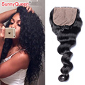 6A Malaysian Loose Wave Silk Base Closure 4X4 Malaysian Virgin Hair Silk Base Closure 100% Human Hair Closure Bleached Knots