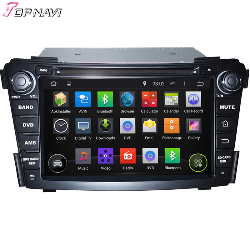 Quad Core Android 4.4.4 Car Dvd Player For I40 2011 2012 2013 With 16GB Flash Mirror Link Bluetooth GPS Free Map