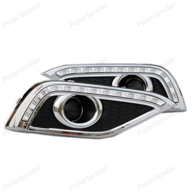 2 pcs auto parts Daytime running lights car styling for H/onda C/RV 2012-2015 auto parts 2 pcs for c hevrolet c ruze light guide 2009 2013 daytime running lights car styling