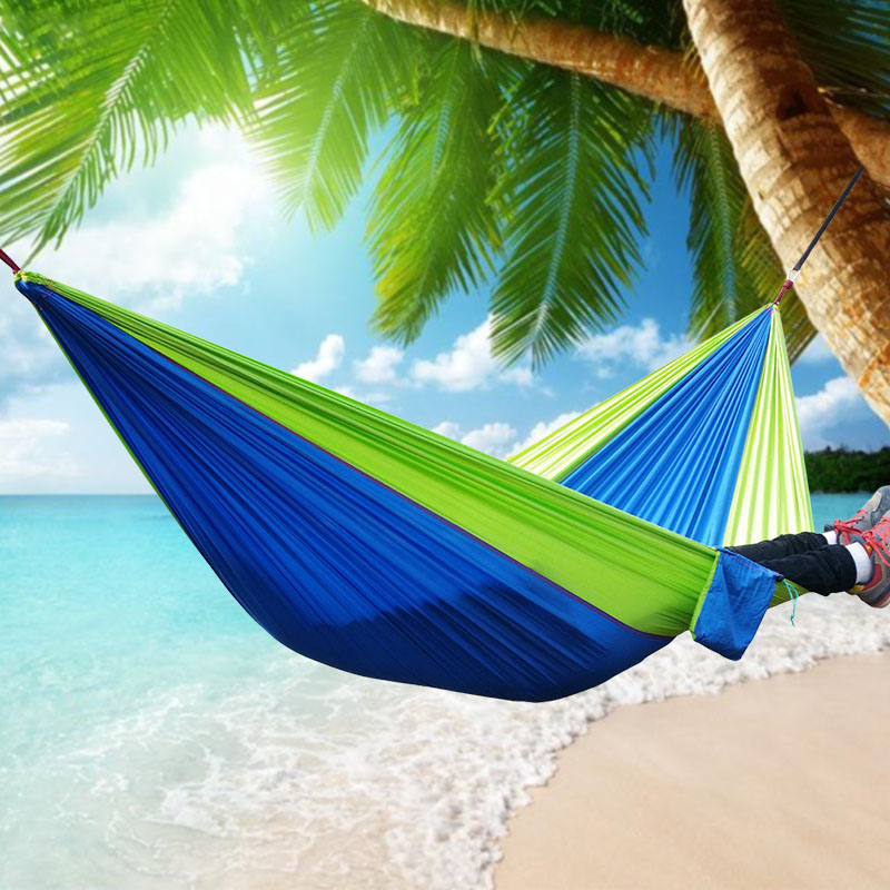 Outdoor Sleeping Parachute Hammock Garden Sports Home Travel Camping Swing Nylon Hang Bed Double Person Hammocks Hot Sale thicken canvas single camping hammock outdoors durable breathable 280x80cm hammocks like parachute for traveling bushwalking
