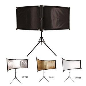 Image 3 - GSKAIWEN כפוף U הקליד אור רפלקטור/מפזר סט עם חצובה Eyelighter עבור צילום וידאו סטודיו Shot (כסף /זהב/לבן)