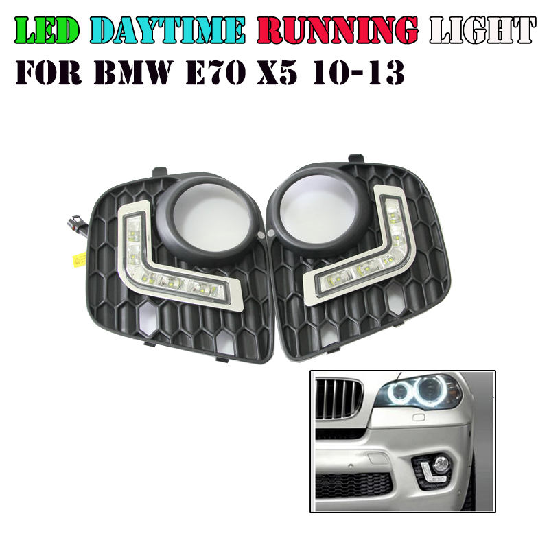Hot sale car 12v led daytime running light drl daylight lamp kit 6000k color for bmw x5 e70 2010-2013