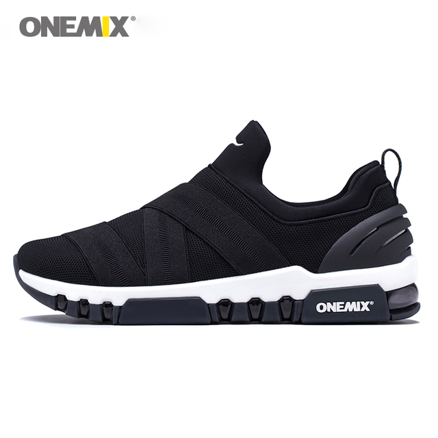 cd15308c071b4 ONEMIX 2018 Men Slip-on Running Shoes Lightweight Damping Sports Shoes  Women All-match Breathable Mesh Sneakers Jogging Shoes