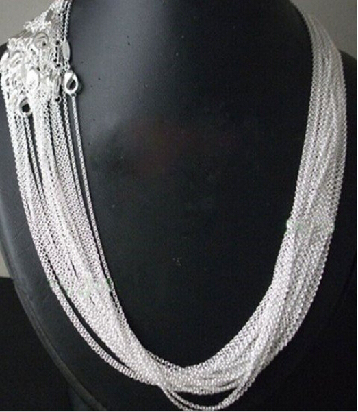 10pcs/lot Promotion! wholesale 925 sterling silver necklace, silver fashion jewe