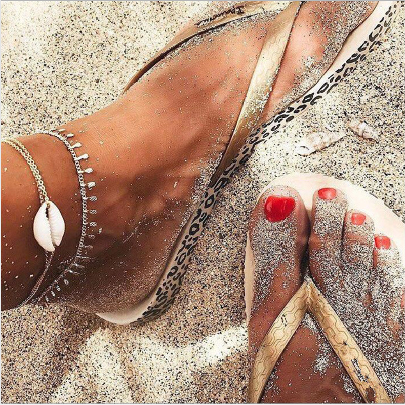 Anklets for Women shell Foot Jewelry Summer Holiday Beach Barefoot Shinning ankle on leg Female Ankle strap Bohemian Accessories