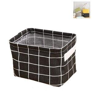 Image 2 - Caixas de armazenamento de algodão compõem cosméticos organizador livro recipiente roupas sujas caixão organizador de escritório portátil com alça