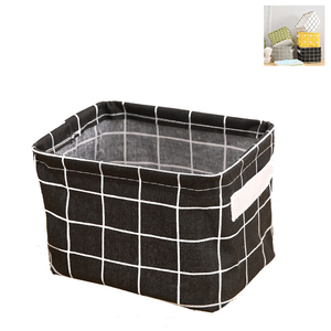 Image 2 - Cotton Storage Boxes Make Up Cosmetics Organizer Book Container Dirty Clothes Casket Portable Office Organizer With Handle