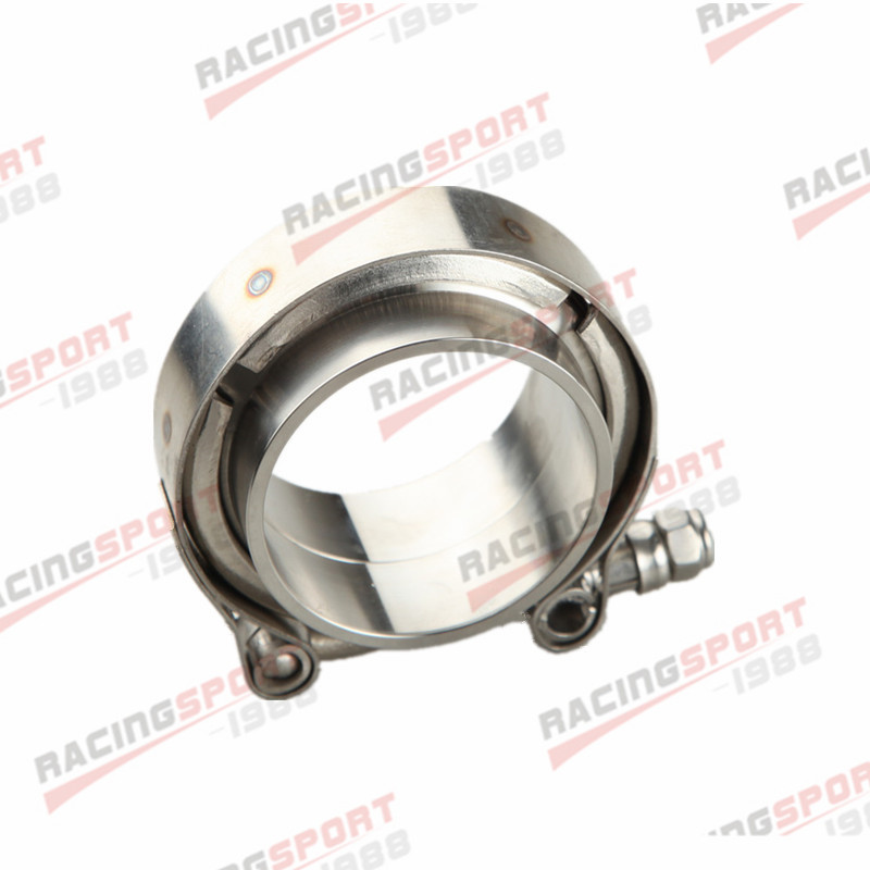 """1.75"""" V Band Vband Clamp Stainless Steel Flange Flanges Kit Turbo