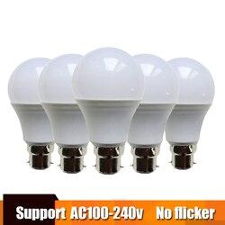 5pcs LED Bulb Lamp b22 Lampada lampe Bombilla led namna lampu kuningan 3W 5W 7W 9W 12W 15W 110V 220V Cold White Warm White