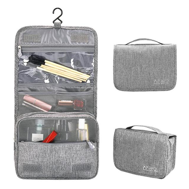 TPFOCUS Travel Storage Container Foldable Waterproof Makeup Bag with Hook