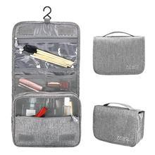 TPFOCUS seyahat saklama kabı katlanabilir su geçirmez makyaj çantası kanca ile