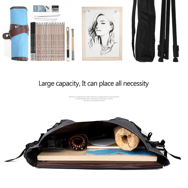 Image 3 - Large Art bag for drawing board painting set travel sketch bag for sketching tools Canvas painting art supplies for artist-in Art Sets from Office & School Supplies