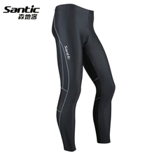 Santic NEW Spring Autumn Cycling Jerseys Men Long Bike Riding Pants Breathable Padded Gel MTB Trousers Elastic Bicycle Clothing