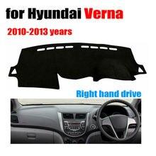 Salpicadero del coche estera cubierta para Hyundai Verna 2010-2013 años con volante a la derecha salpicadero pad cubierta auto dashboard dash accesorios