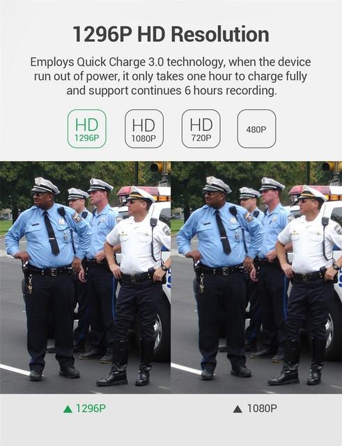 New BOBLOV 32GB/64GB HD 1296P Body Worn Camera Novatek 96658 Police Security IR Night Vision 32MP Video Fast charging Kamera 10